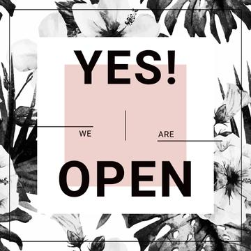 yes we are open poster