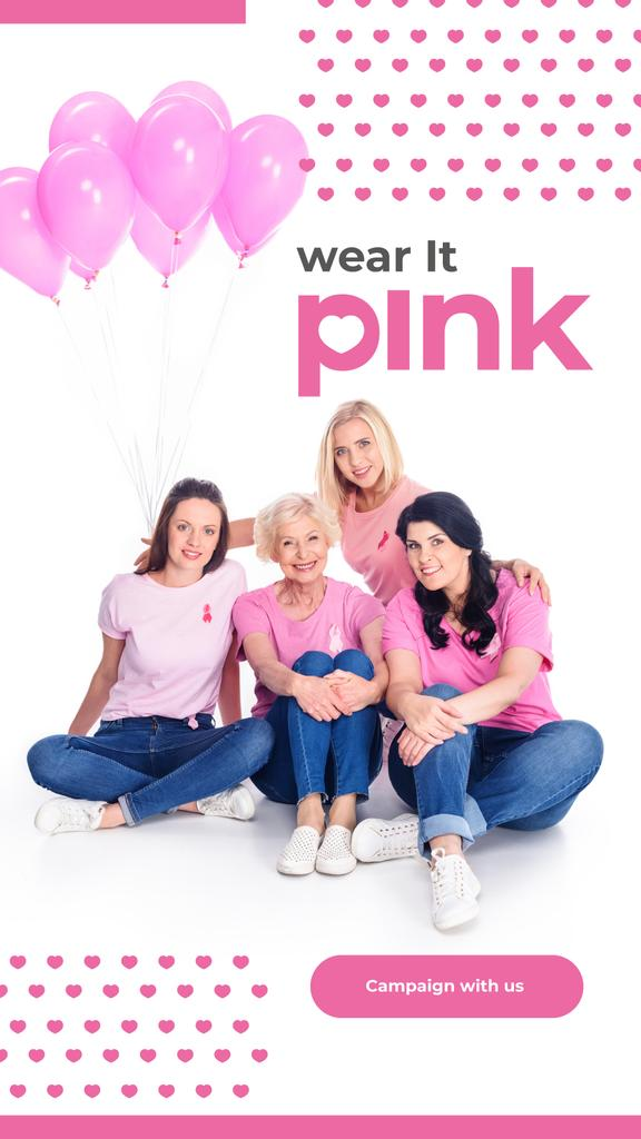 Women with pink ribbons — Создать дизайн