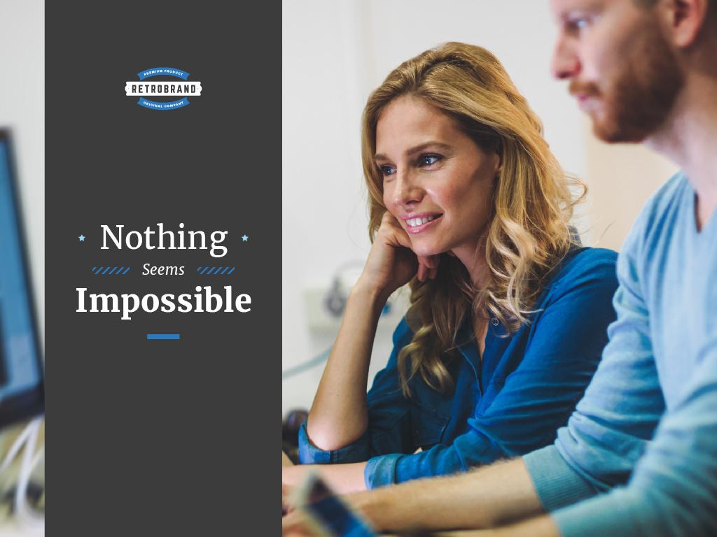 Nothing seems impossible — Modelo de projeto