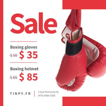 Sports Equipment Sale Boxing Gloves in Red