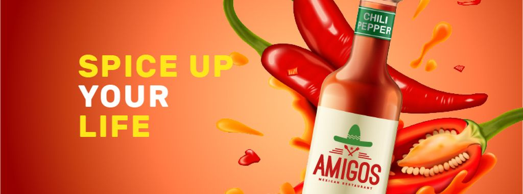 Hot Chili Sauce bottle — ein Design erstellen
