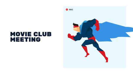 Plantilla de diseño de Movie Club Meeting with Man in Superhero Costume Youtube