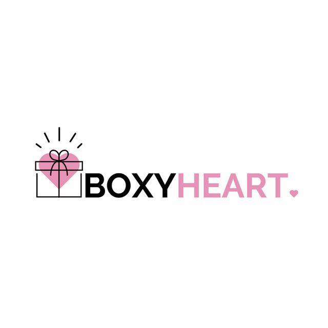 Plantilla de diseño de Gift Box with Heart and Bow Logo