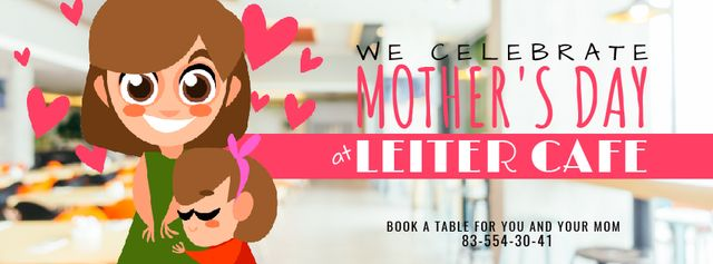 Ontwerpsjabloon van Facebook Video cover van Mother's Day Daughter hugging Mom