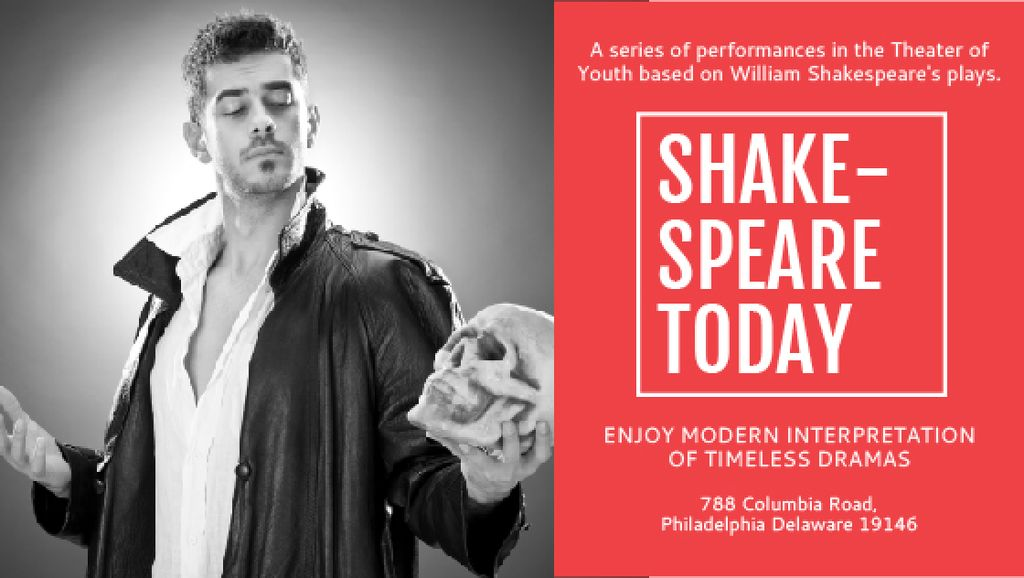 Shakespeare's performances in the Theater of Youth — Créer un visuel