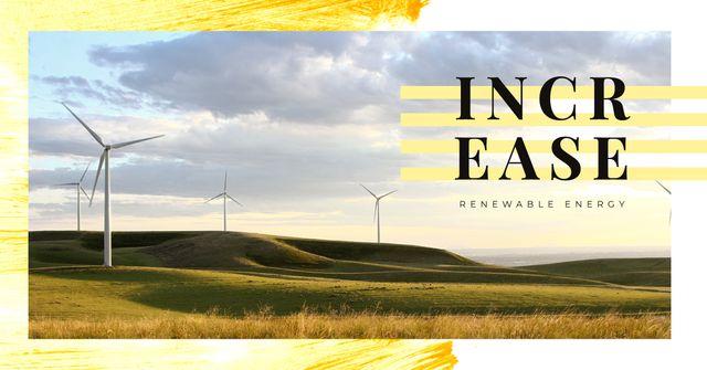 Wind turbines farm Facebook AD – шаблон для дизайна