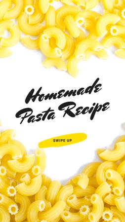 Italian Pasta Heart frame Instagram Story Modelo de Design