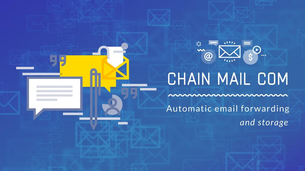 Email Marketing Business File Icon in Blue — Створити дизайн