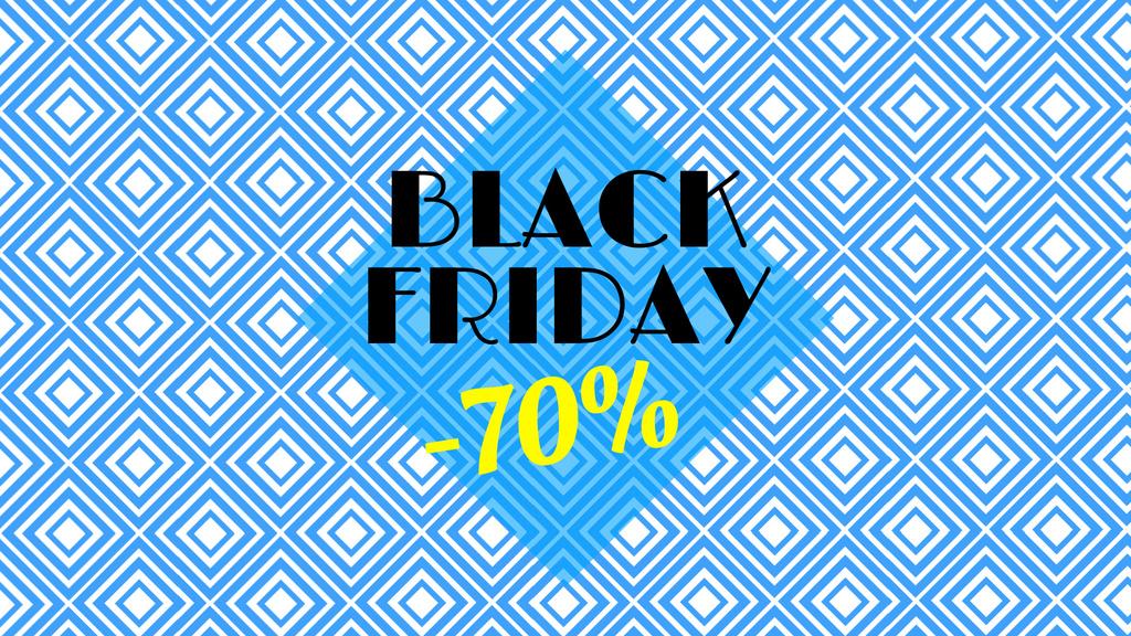 Black Friday Sale Offer Blue Kaleidoscope Pattern — Create a Design