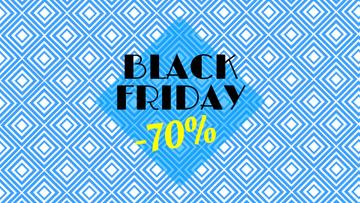 Black Friday Sale Offer Blue Kaleidoscope Pattern
