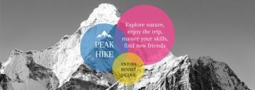 Hike Trip Announcement Scenic Mountains Peaks | Tumblr Banner Template