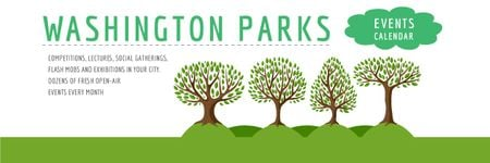 Plantilla de diseño de Events in Washington parks Announcement Email header
