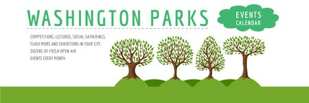 Events in Washington parks Announcement Email headerデザインテンプレート