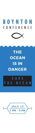 Plantilla de diseño de Boynton conference the ocean is in danger Skyscraper
