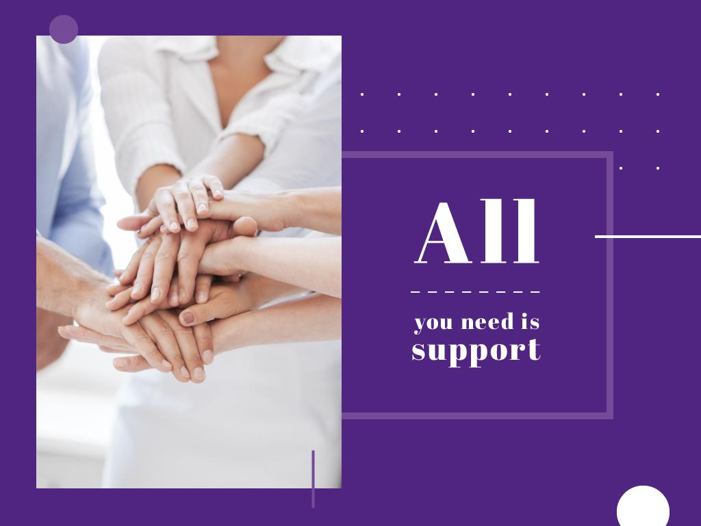 All you need is support — Créer un visuel