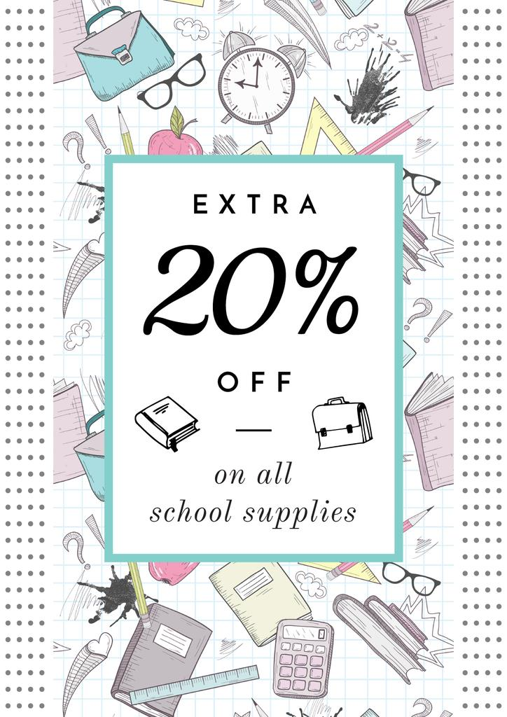 School supplies sale advertisement — Створити дизайн