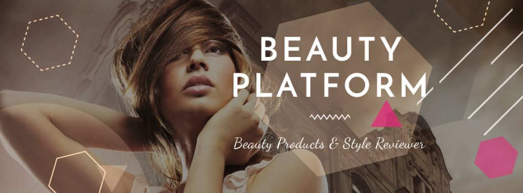 Beauty Platform promotion with Attractive Woman — Створити дизайн