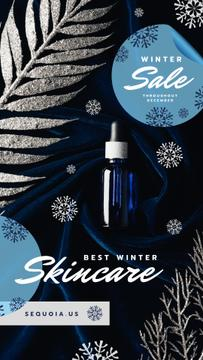 Winter Cosmetics Sale Skincare Product Bottle