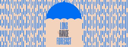 Ontwerpsjabloon van Facebook Video cover van Long Range Forecast