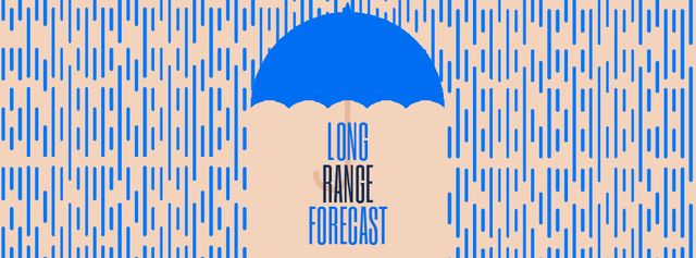 Plantilla de diseño de Long Range Forecast Facebook Video cover