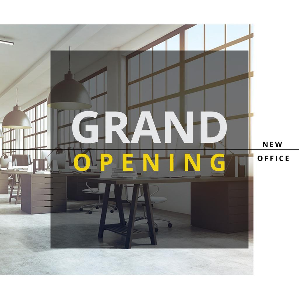 Grand opening of new office — Maak een ontwerp