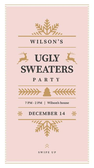 Christmas Party invitation Instagram Story Design Template