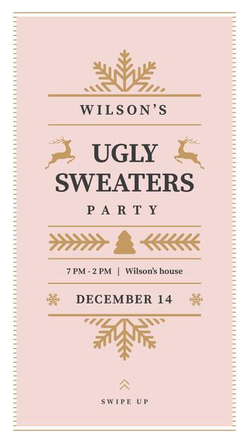 Plantilla de diseño de Christmas Party invitation Instagram Story