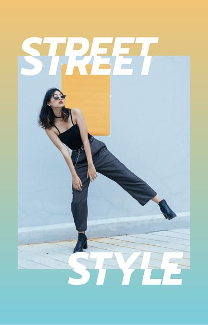 Stylish Girl on walk in City IGTV Cover Design Template