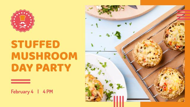 Plantilla de diseño de Stuffed Mushroom dish for Party FB event cover