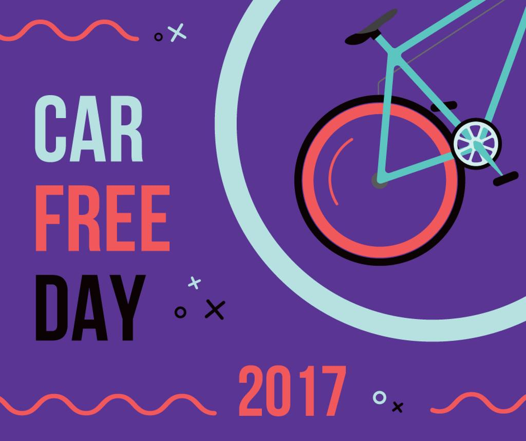 car free day poster with bicycle — Створити дизайн