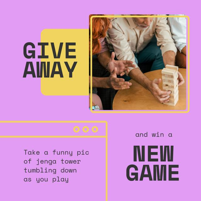 Template di design Board Game Giveaway with playing People Instagram