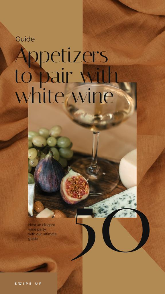 Winery Offer White Wine with Fruits | Vertical Video Template — Create a Design