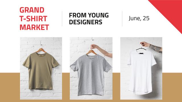 Modèle de visuel Clothes Store Sale Basic T-shirts - FB event cover