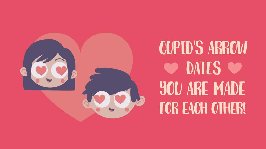 Valentine's Day Couple in Heart-shaped frame — ein Design erstellen