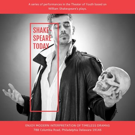 Modèle de visuel Theater Invitation Actor in Shakespeare's Performance - Instagram AD