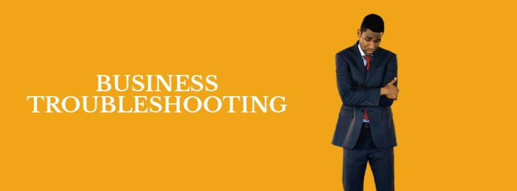 Discouraged african-american businessman  — Створити дизайн