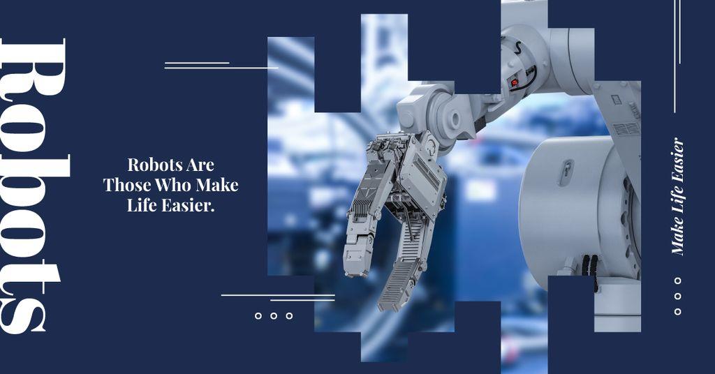 Plantilla de diseño de Modern robotics technology Facebook AD