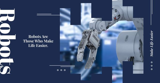 Modern robotics technology Facebook AD – шаблон для дизайна