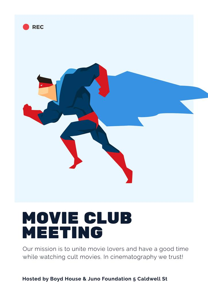 movie club meeting poster template design online crello