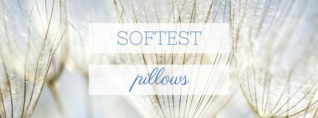 Softest Pillows Ad Tender Dandelion Seeds Facebook cover Tasarım Şablonu