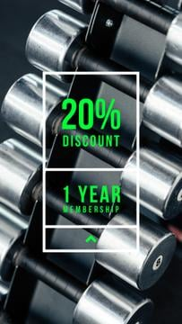 Gym Offer with dumbbells