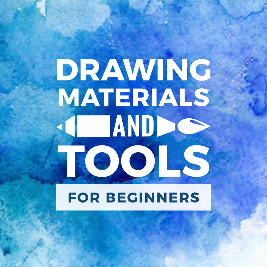 Drawing materials and tools store banner — Maak een ontwerp