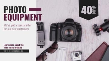 Dslr Camera and Photo Equipment Offer | Full Hd Video Template