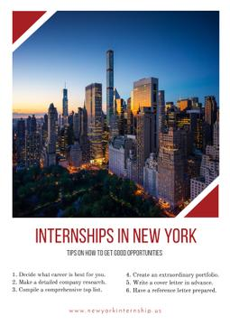 Internships in New York with City view