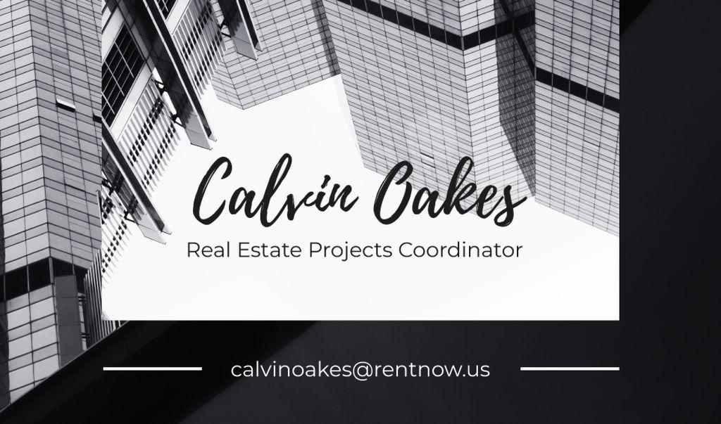 Real Estate Coordinator Ad with Glass Buildings — ein Design erstellen