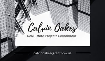 Real Estate Coordinator Ad with Glass Buildings