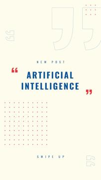 Artificial Intelligence concept with Dots Pattern
