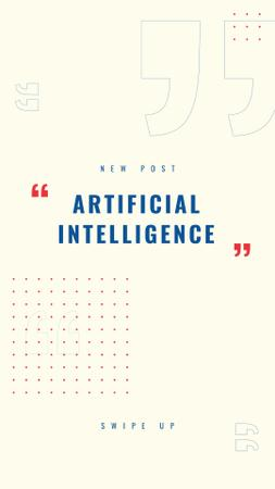 Artificial Intelligence concept with Dots Pattern Instagram Story Modelo de Design
