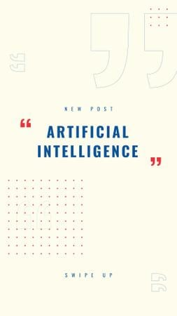 Plantilla de diseño de Artificial Intelligence concept with Dots Pattern Instagram Story