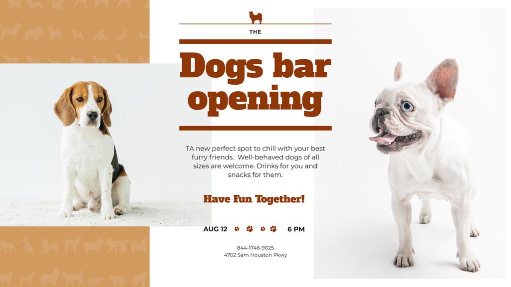 Dogs Bar Ad with Cute Pets — Modelo de projeto